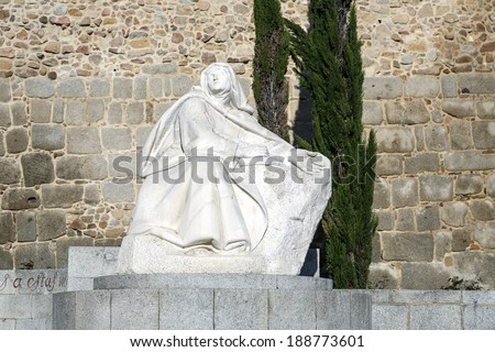 Monument of Saint Teresa of Avila, Avila, Spain  - stock photo