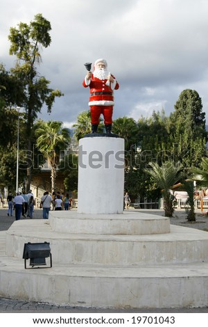 monument of Santa Claus in Turkey, Mira - stock photo