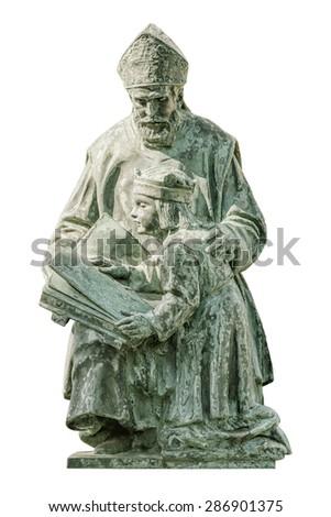 Monument of St. Gellert in the City of Szekesfehervar, Hungary - stock photo