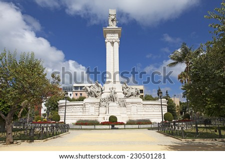 Monument of the Constitution in Cadiz, Spain - stock photo