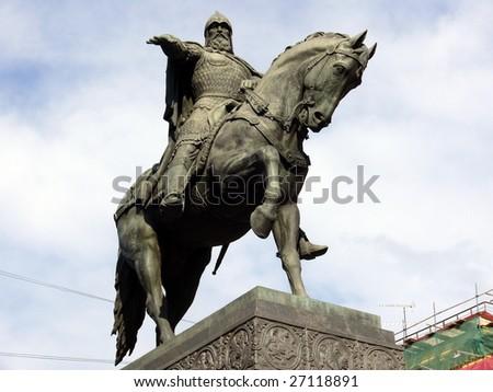 Monument of Yuri Dolgoruky - Moscow - stock photo