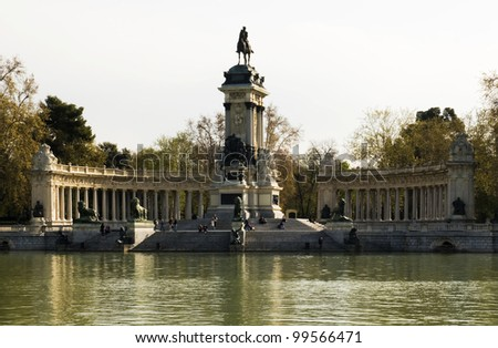 monument to Alfonso XII, Retiro Park, Madrid