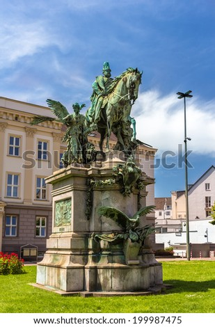 Monument to Kaiser-Wilhelm-Denkmal in Dusseldorf, Germany - stock photo
