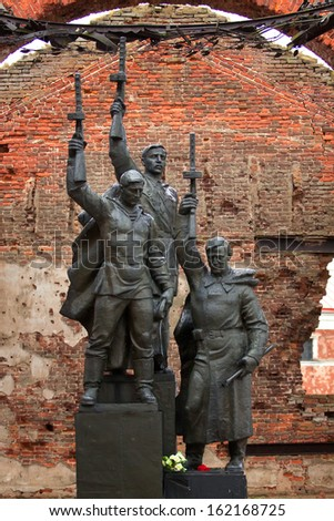 Monument to motherland defenders in Oreshek fortress (Shlisselburg, Russia). - stock photo