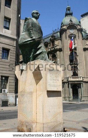 Monument to Salvador Allende - stock photo