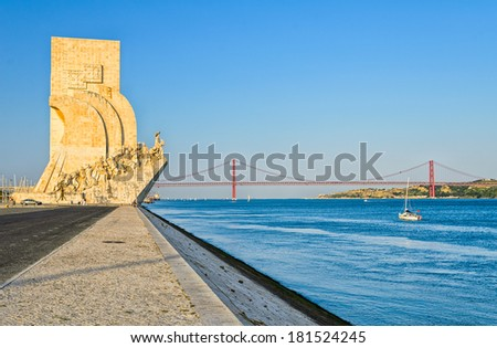 Monument to the Discoveries, Lisbon - stock photo