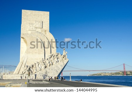 Monument to the Discoveries, Lisbon, Portugal - stock photo