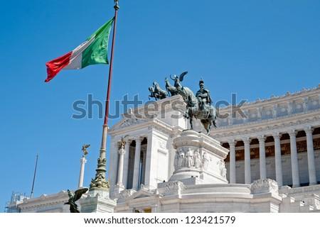 Monument to Vittorio Emanuele II. Rome, Italy - stock photo