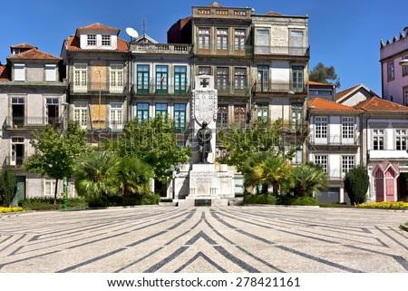 Monument to World War in Carlos Alberto square, Porto, Portugal - stock photo