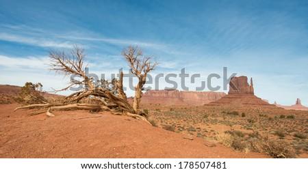 monument valley - stock photo