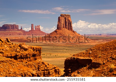Monument Valley - stock photo