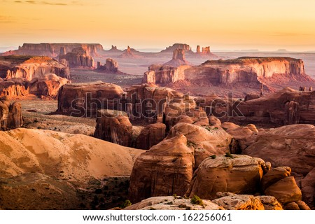 Monument Valley, desert canyon in USA - stock photo