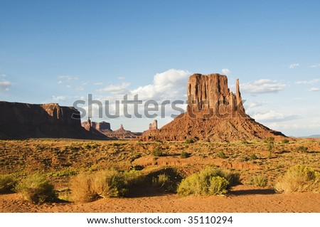 monument valley during the day with blue sky