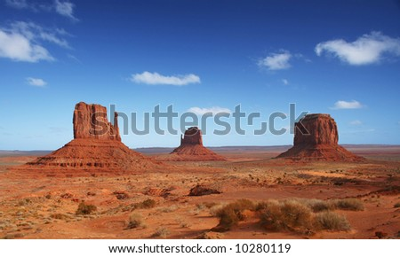Monument Valley in America's Southwest - stock photo