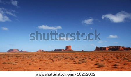 Monument Valley in Arizona - stock photo