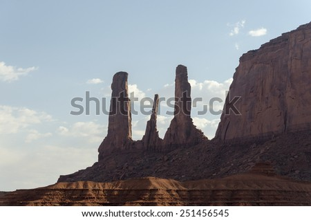 Monument Valley in Arizona in United States - stock photo