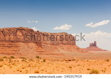 Monument Valley in southern Utah - stock photo