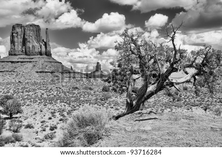 Monument valley landscape view - stock photo