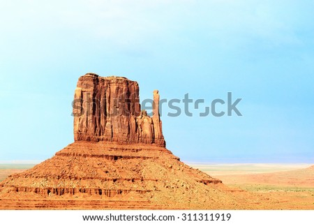 Monument Valley Navajo Tribal Park  - stock photo