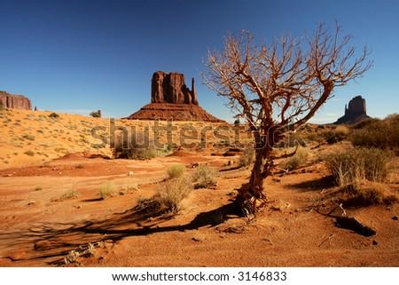 Monument Valley Navajo Tribal Park, Arizona. - stock photo