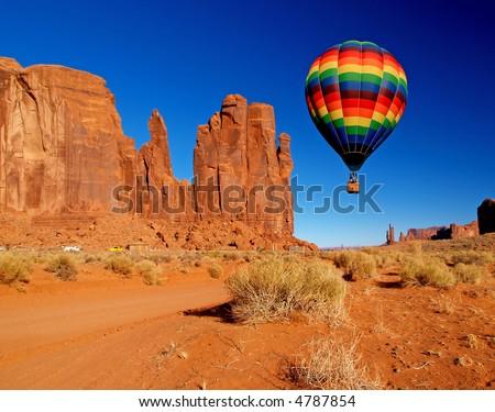 Monument Valley Navajo Tribal Park in Utah - stock photo