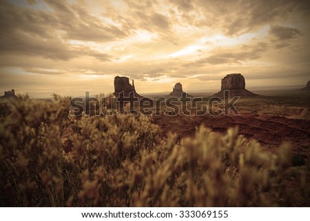 Monument Valley old west landscape in the southwest