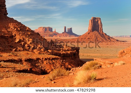 Monument Valley's North Window Overlook - stock photo
