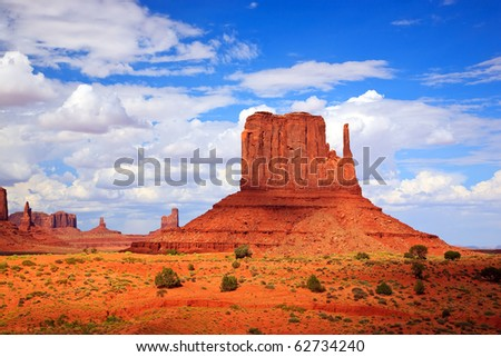 Monument Valley West Thumb - stock photo