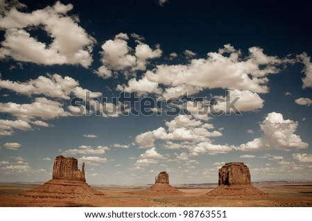 Monument Valley with clouds