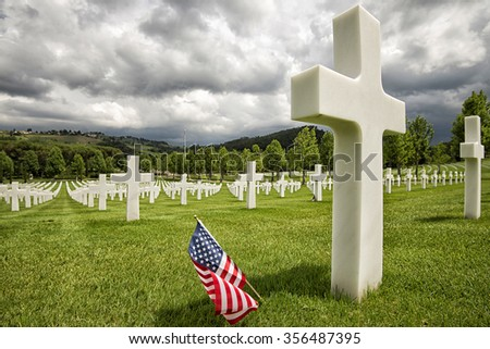 Monumental Cemetery victims of World War II - stock photo