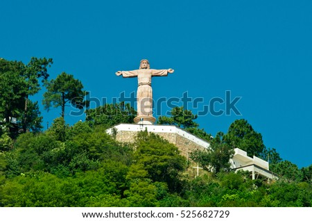Monumental Christ at Atachi Hills, Taxco, Mexico
