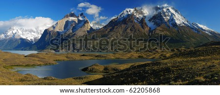 Monumental Torres del Paine - stock photo