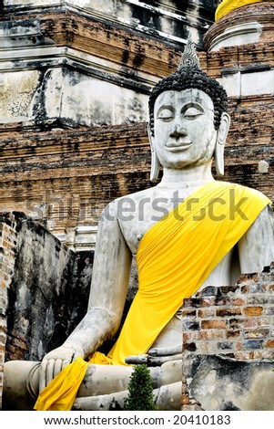 Monuments of buddha - stock photo