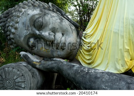 Monuments of sleeping buddha - stock photo