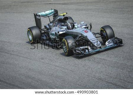 Monza, Italy. 4 September 2016. F1, Grand Prix of Italy. Nico Rosberg, german F1 driver of Mercedes, during the race.