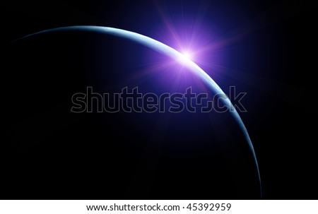 Moon and rising star - stock photo