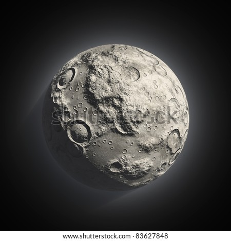 Moon and stars - stock photo