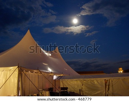 moon and tent