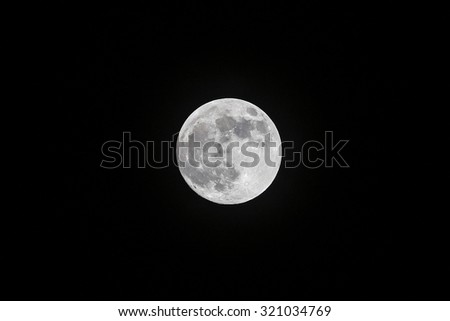 Moon at it largest also called supermoon - stock photo