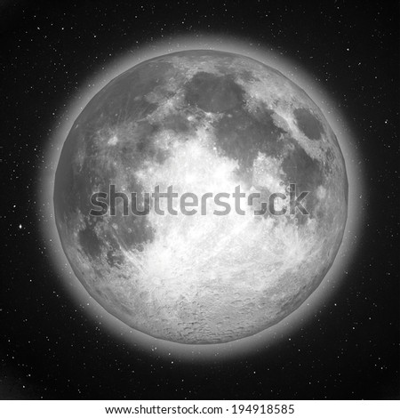 moon at night