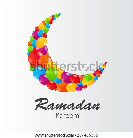 Moon Background for Muslim Community Festival  Illustration 