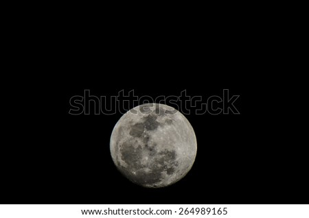 Moon Closeup Showing the Details of Lunar Surface. - stock photo