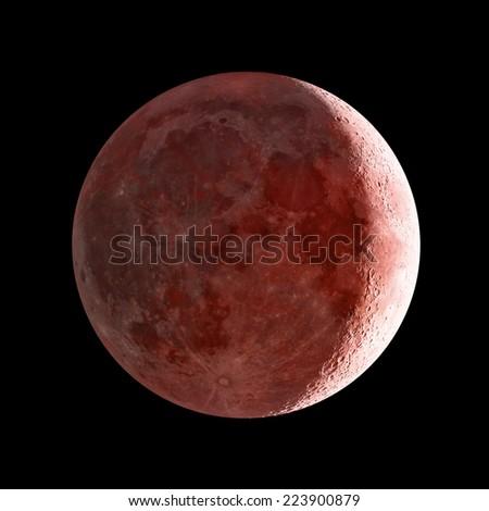 Moon eclipse.  - stock photo