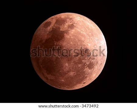 Moon eclipse May 4 2004 - stock photo
