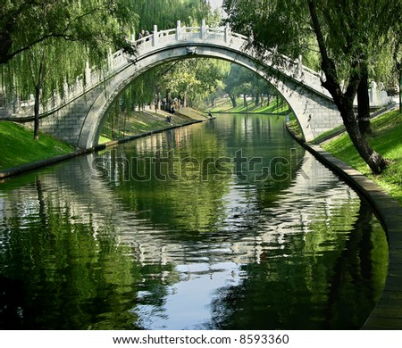 Moon Gate, Purple Bamboo Park, Beijing, China
