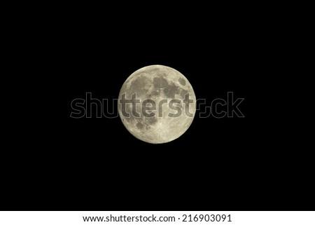 moon in mid autumn festival - stock photo