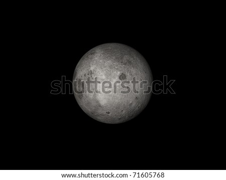 Moon in space - stock photo