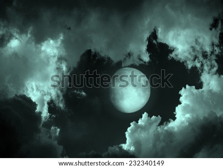 "moon in the night sky""Elements of this image furnished by NASA"" - stock photo"
