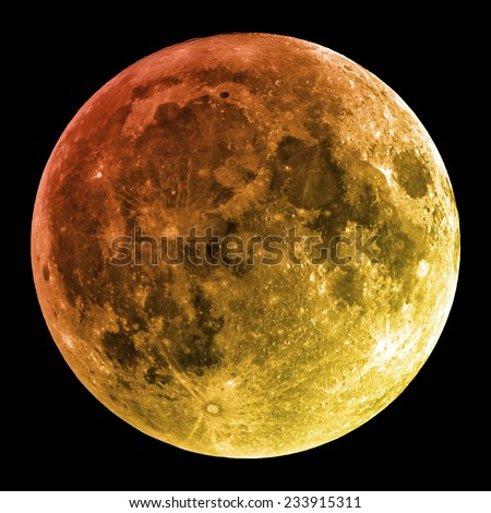 Moon on a 0 0 0 background. - stock photo