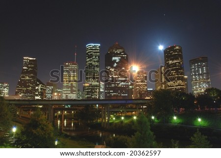 Moon over Houston